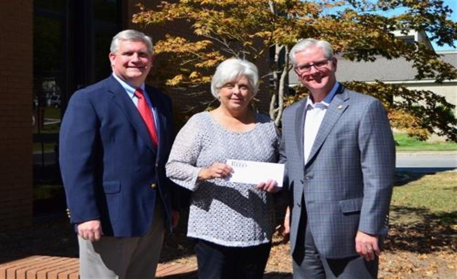 Sen. Greg Reed presented the Education Block Grant to the Walker County Board of Education Ms Guthrie and Dr. Hagood accepted