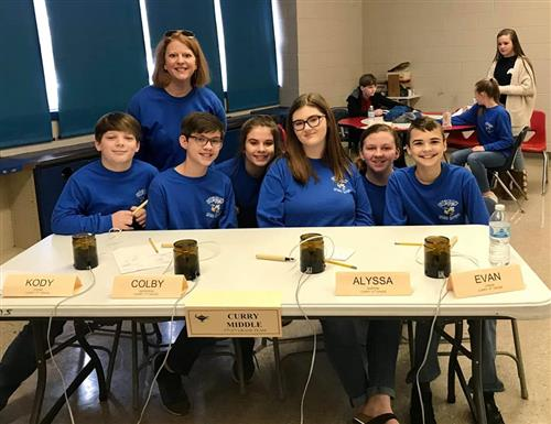 Curry Middle 7th and 8th Grade Quiz bowl team