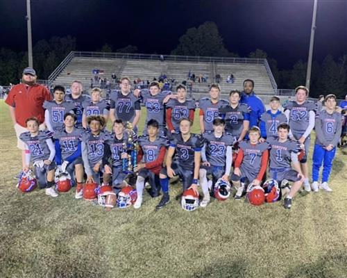 BMS won Walker Co. Football Championshhip vs CH 24-16