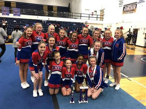 BMS Cheerleaders win Cheer Competition 1st and 2nd place